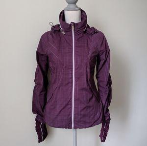 Rare Lululemon Run Hustle Purple Plaid Jacket